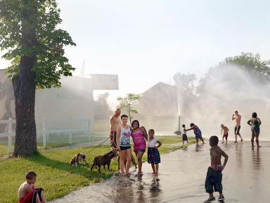 Group with Hydrant North Corktown Detroit 2012 6133432